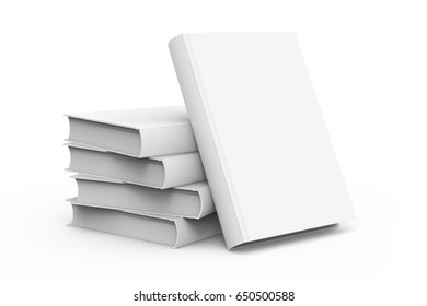 3d rendering blank hard cover books for design uses, isolated white background