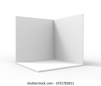 3d rendering blank room with background