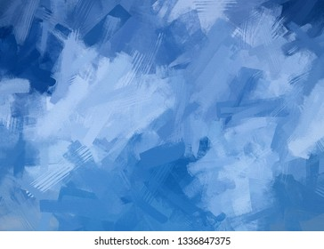 3d Rendering of blue Background - painting style