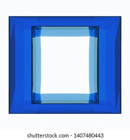 3d Rendering of blue glass block