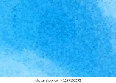 3d rendering of blue gradient mosaic floor
