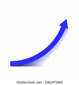 3d rendering of blue growth curve