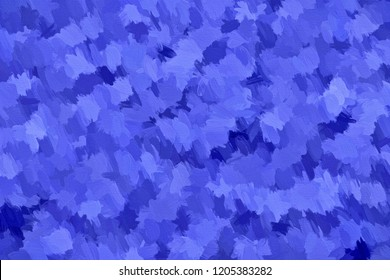 3d rendering of blue impasto canvas
