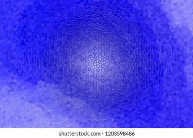 3d rendering of blue mosaic floor