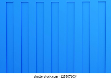 3d rendering of blue sea freight container - closeup