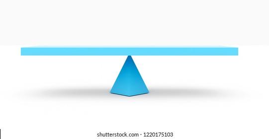 3d rendering of blue seesaw