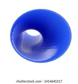 3d Rendering of blue tube