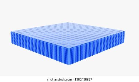 3d Rendering of blue wafer
