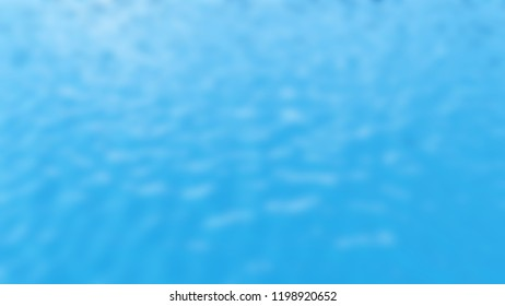 3d rendering of blurry blue liquid surface