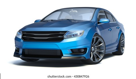 3D rendering of a brand-less generic concept car in studio environment. No trademark issues as the car is my own design. The car does not exist in real life