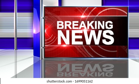 3D rendering breaking news background is perfect for any type of news or information presentation. The background features a stylish and clean layout