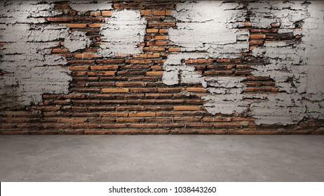 3d rendering of brick wall