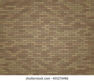 3D rendering brown brick-wall