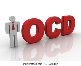 3d rendering business leadership with OCD TEXT