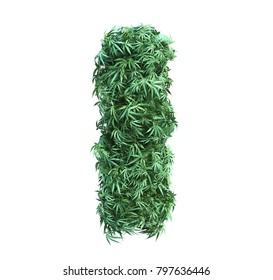 3D rendering of cannabis alphabet