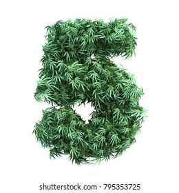 3D rendering of cannabis number
