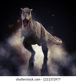 A 3D rendering of Carnotaurus.