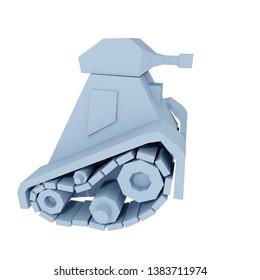 3d Rendering of Cartoon tank