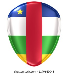 3d rendering of a Central African Republic flag icon on white background.