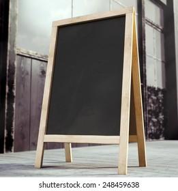 3D rendering of chalkboard