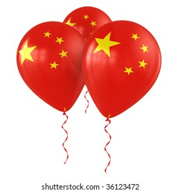 3d rendering of Chinese balloons
