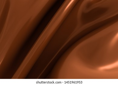 3D rendering chocolate flow background
