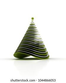 3D rendering Christmas Tree