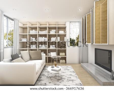 48 D Rendering Clean Living Room White Stock Illustration 48669176486 Interesting Clean Living Room