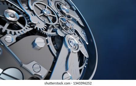 3D rendering of a clockwork