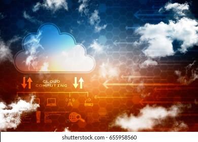 3d rendering Cloud computing
