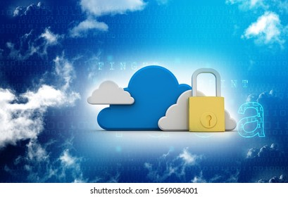 3d rendering Cloud computing, security
