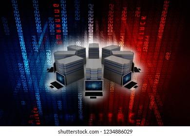 3d rendering Computer network