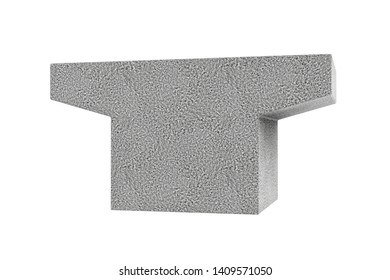 3d Rendering of concrete block, isolated