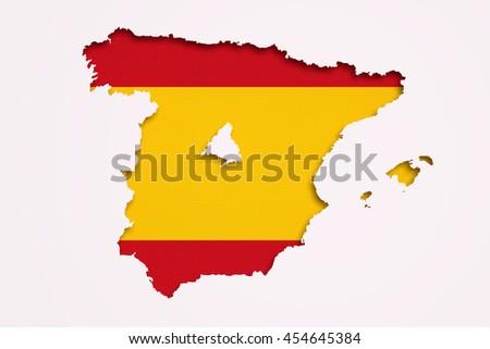 3 D Rendering Contour Spanish Map Madrid Stock Illustration ...