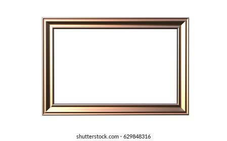 Picture frame isolated on white background | EZ Canvas
