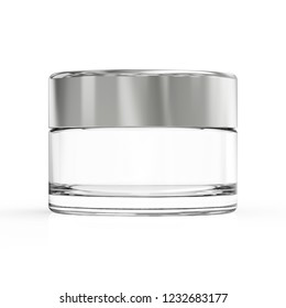3d rendering cosmetic creaam pot or container with cap