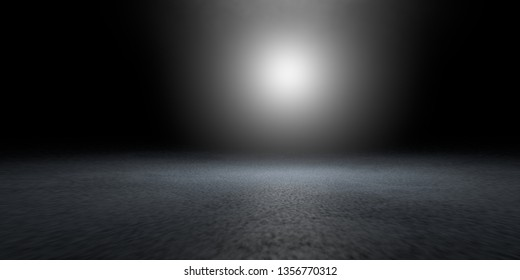 3d rendering of a dark scene with futuristic lights abstract