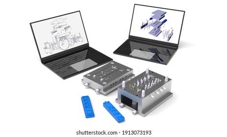 3D rendering - design power plug