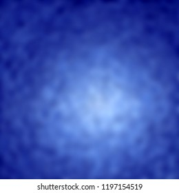 3d rendering of different blue colored blur structure