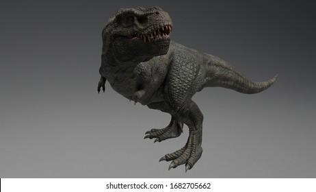3D rendering of Dinosaur , isolated on white background. Descendant of Tyrannosaurus Rex -Zhuchengtyrannus magnus