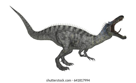 3D rendering of a dinosaur Suchomimus or Suchomimus tenerensis isolated on white background