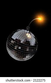 3d rendering - disco bomb