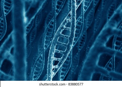3d rendering of DNA strings