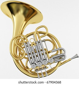 3d Rendering of a Double French Horn