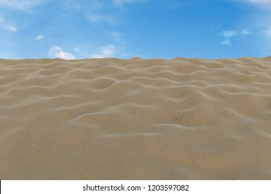 3d rendering of dune and blue sky - view from below