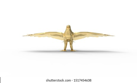 3d rendering of an eagle isolated in white studio background
