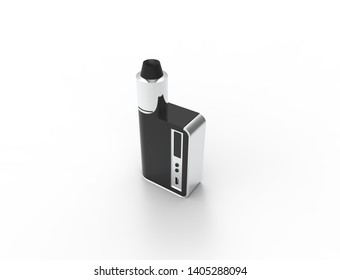 3D rendering of a elctronic cigarette isolated in white background.