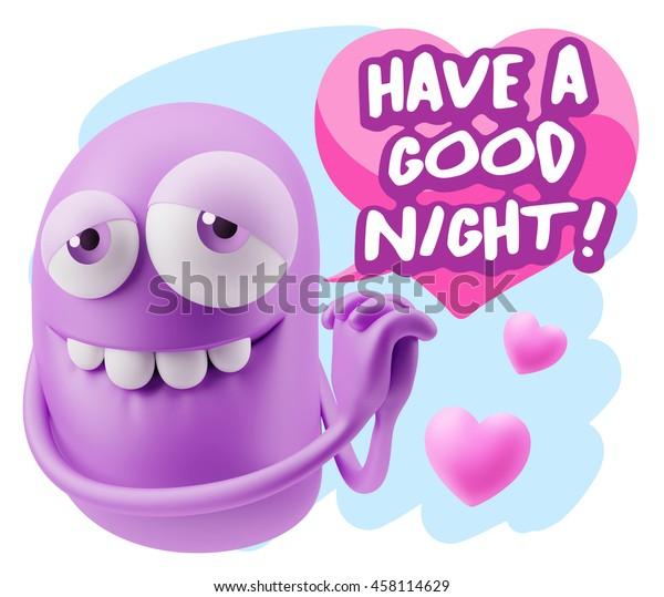3d Rendering Emoji Saying Have Good Stock Illustration 458114629