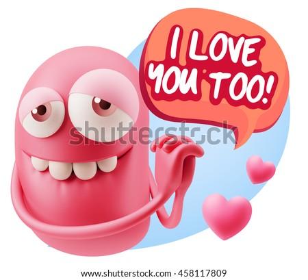 Emoji saying i love you