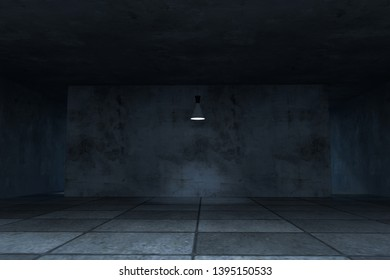 3d rendering, the empty room with exquisite top light. Computer digital background.